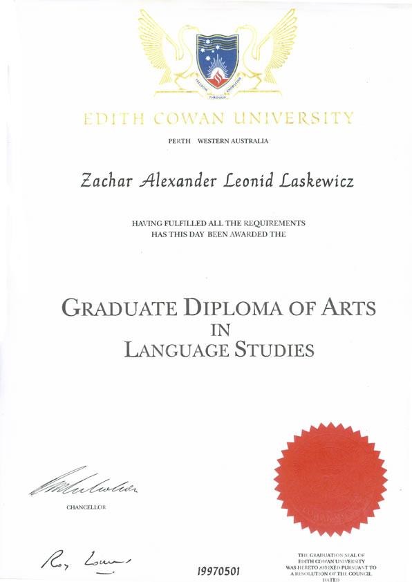 Contoh Sijil Diploma