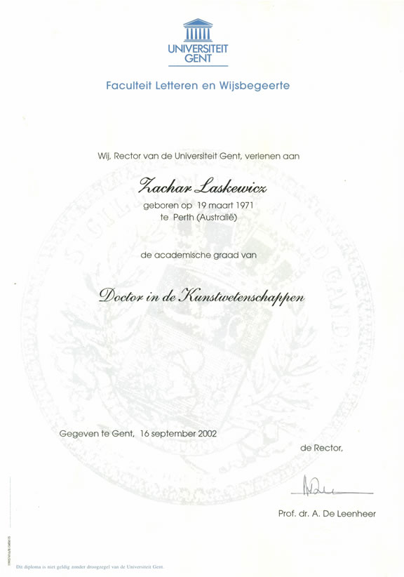 Doctoral certificate