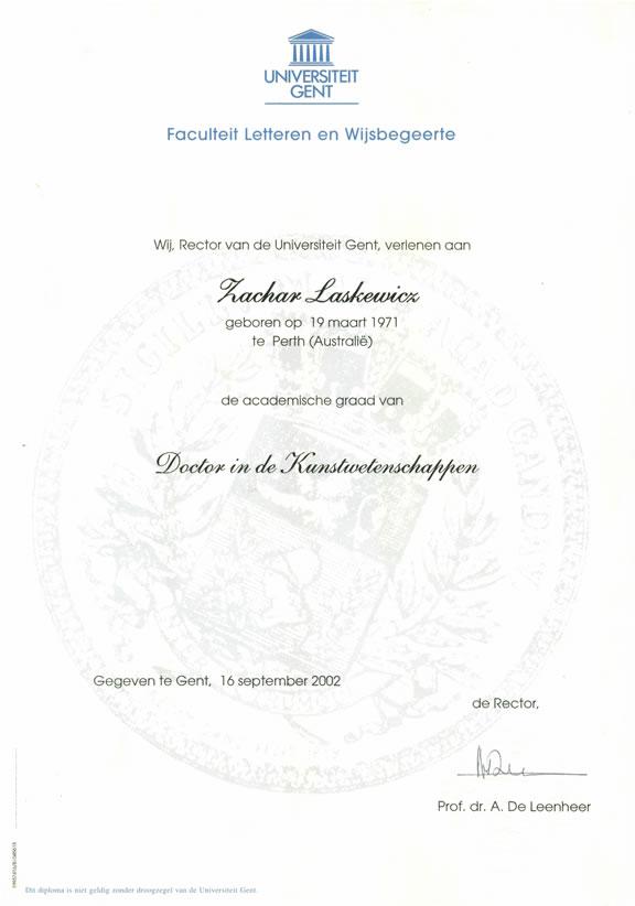 cv of dr zachar alexander laskewicz